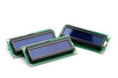 LCD indicator op witte achtergrond wordt geïsoleerd die stock foto's