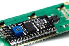Lcd-Indikator lokalisiert auf weißem Hintergrund lizenzfreies stockfoto