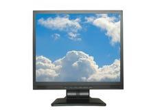 LCD isolado com céu fotografia de stock royalty free