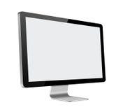 LCD Komputerowy monitor z pustym ekranem na bielu Zdjęcia Stock