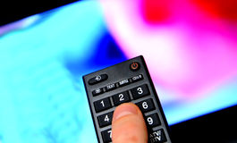 Lcd led tv remote control Royalty Free Stock Photography