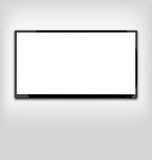 LCD or LED tv screen hanging on the wall Royalty Free Stock Images