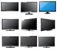 LCD and LED TV Vector Illustration, EPS 10. Stock Images