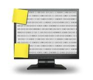 LCD mit abstraktem binärem Code Stockfoto