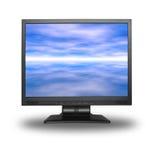 LCD mit Himmel stockfoto