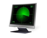 LCD mit Radar Lizenzfreies Stockbild