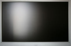 LCD monitör. Front view of LCD monitor with black screen Stock Image