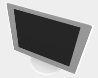 LCD monitor 03. Rendered LCD monitor vector illustration