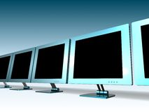 LCD MONITOR. 3d model of lcd monitor Stock Image