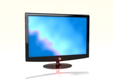 LCD monitor. A high definition, wide screen, LCD monitor Stock Images