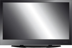 LCD monitor. Vector LCD monitor issolated on white Stock Images