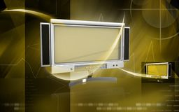 LCD Monitor. Digital illustration of LCD Monitor in colour background vector illustration