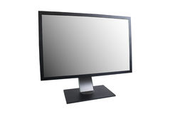 LCD monitor. With empty screen isolated on white Royalty Free Stock Photo