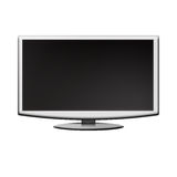 LCD Monitor. On a white background vector illustration