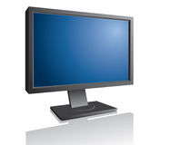 Lcd monitor. Computer lcd monitor with empty screen Royalty Free Stock Photo