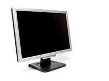 LCD monitor #2. LCD blank flatscreen monitor isolated Royalty Free Stock Images