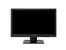 LCD monitor. Wide-angle LCD monitor/television isolated on white background Stock Images