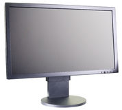 LCD monitor. Computer LCD flat monitor isolated on the white background Stock Image