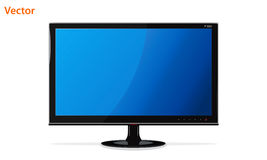 Lcd monitor. Stylish LCD monitor with blue screen Royalty Free Stock Photo