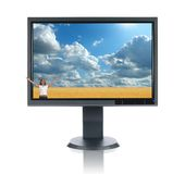 LCD Monitor Stock Afbeelding