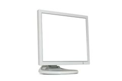 LCD Monitor. Isolated on white background Stock Photography