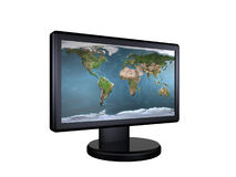 LCD monitor. Monitor - 3d rendered on isolated white Royalty Free Stock Image