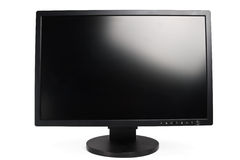LCD monitor. Modern flat screen LCD monitor on a white background Stock Photography