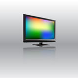 Lcd monitor with abstract background on the screen. Vector illustration. Royalty Free Stock Photography