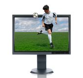 LCD Monitor and Back Kick Royalty Free Stock Photos