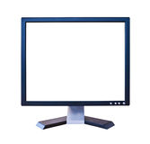 LCD Monitor with blank screen isolated Stock Image