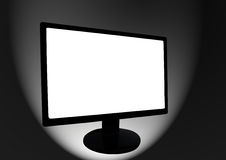 LCD screen. LCD Monitor with blank white screen vector illustration