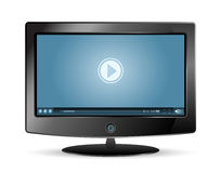 Lcd monitor video player Stock Photo