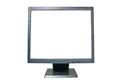 LCD monitor with clipping path Royalty Free Stock Photo