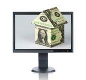 LCD Monitor en Huisvesting Stock Fotografie