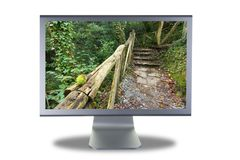 Lcd monitor flat screen Royalty Free Stock Photo