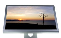 Lcd monitor flat screen Stock Images