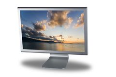Lcd monitor flat screen Stock Image