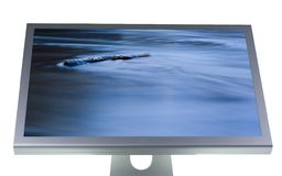 Lcd monitor flat screen Stock Image