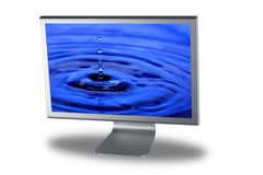 Lcd monitor flat screen Royalty Free Stock Photography