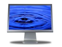 Lcd monitor flat screen Stock Photos