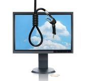 LCD Monitor and Gasoline Noose Royalty Free Stock Photography