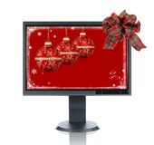 LCD Monitor Gift Stock Photography