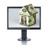 LCD Monitor and Housing Stock Photography