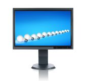 LCD Monitor With image Stock Images