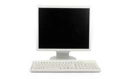 Lcd monitor and keyboard Stock Images