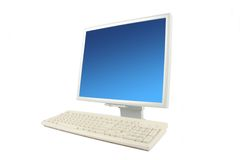 Lcd monitor and keyboard Stock Photography