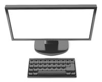 LCD monitor with keyboard Stock Image