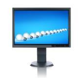 LCD Monitor met beeld Stock Afbeeldingen