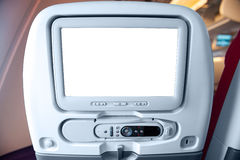 LCD monitor on passenger seat Stock Images