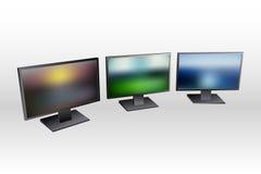 Lcd monitor set Royalty Free Stock Photo